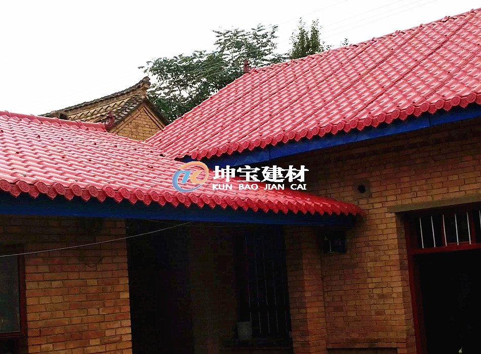 农村老房子翻修选择树脂瓦案例