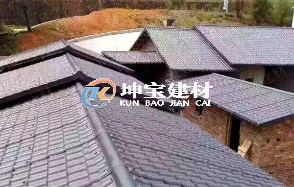 新农村建设――合成树脂瓦圆
