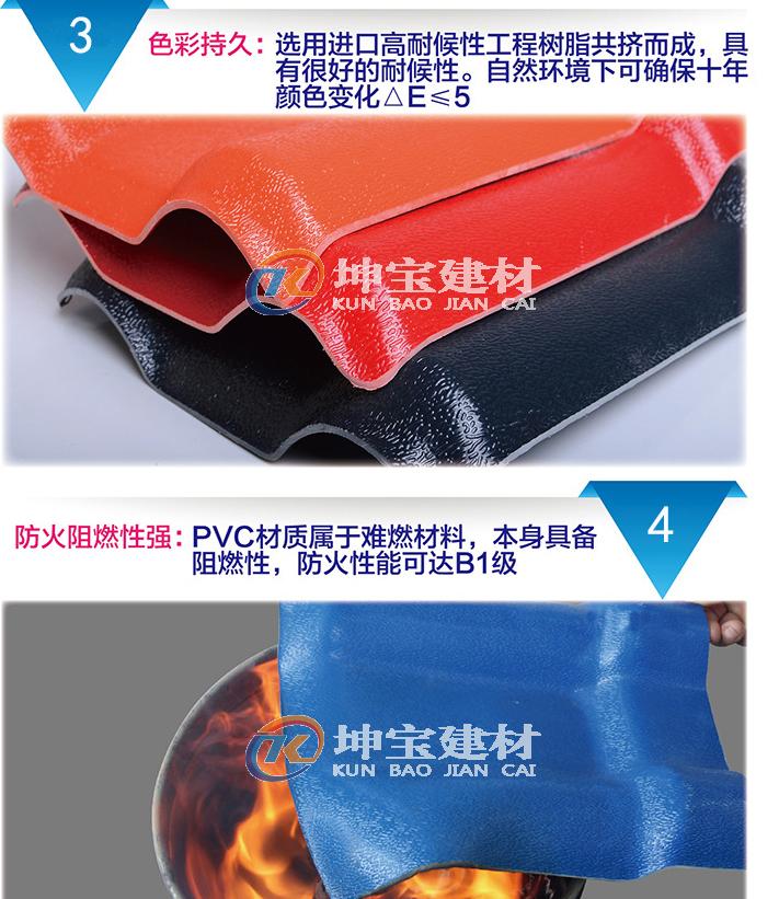 合成树脂瓦还具有抗压不褪色等特性
