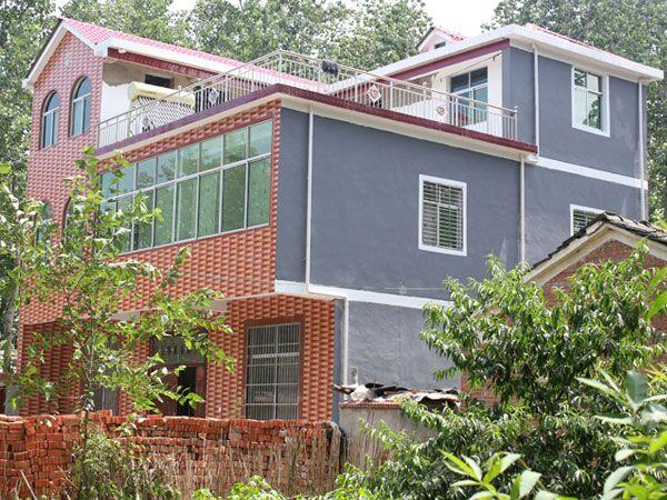 农村自建房 屋面就盖合成树