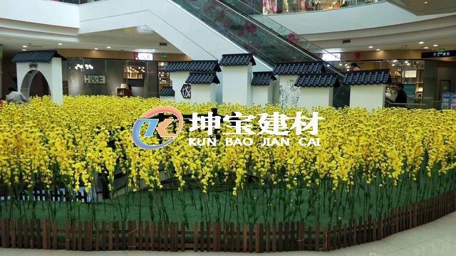 贵州六盘水万达广场墙垛子应用了仿古一体瓦